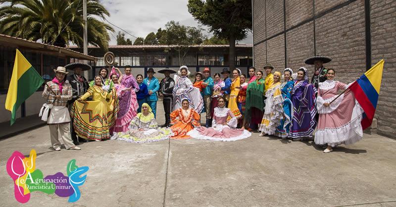 AGRUPACIÓN DANCISTÍCA EN II FESTIVAL INTERNACIONAL DE DANZAS – AMBATO – ECUADOR