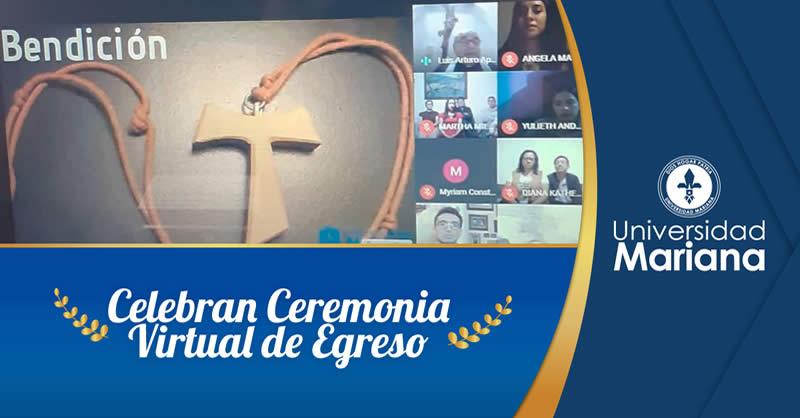 ESTUDIANTES DEL PROGRAMA DE DERECHO CELEBRAN CEREMONIA VIRTUAL DE EGRESO
