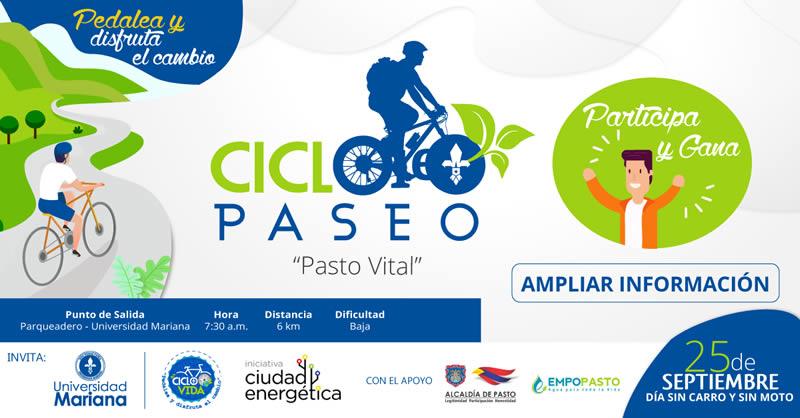 """ESTE 25 DE SEPTIEMBRE, COMUNIDAD UNIVERSITARIA PARTICIPA CON PRIMER CICLO PASEO """"PASTO VITAL"""""""