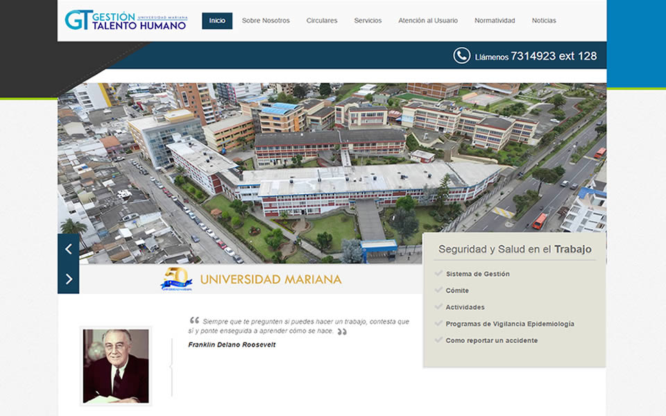 Oficina de gesti n del talento humano estrena portal web for Oficina gestion ica