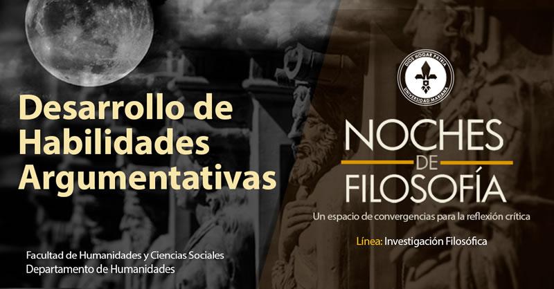 NOCHES DE FILOSOFÍA  Y EL DESARROLLO DE HABILIDAD  DE ARGUMENTAR