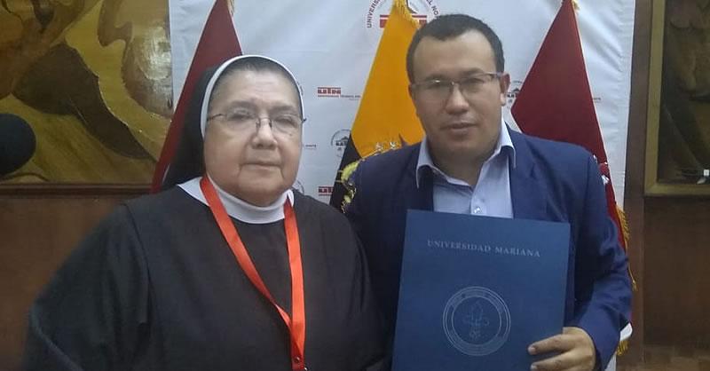 ENTREGA DE RECONOCIMIENTO A RECTOR DE UNIVERSIDAD TÉCNICA DEL NORTE – ECUADOR