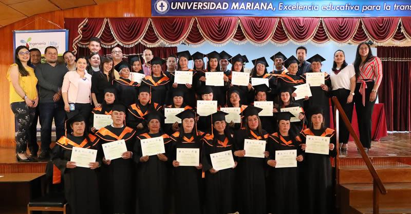UNIVERSIDAD MARIANA Y EMAS CERTIFICARON 29 RECUPERADORES DE OFICIO