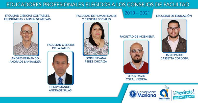ELEGIDOS EDUCADORES PROFESIONALES A CONSEJOS DE FACULTAD