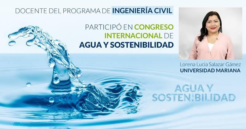 Docente del programa de Ingeniería Civil participó en Congreso Internacional