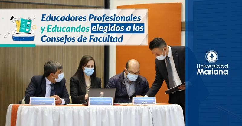 Elegidos voceros de Educadores Profesionales y Educandos a los Consejos de Facultad